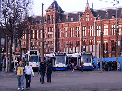Amsterdam east public transportation